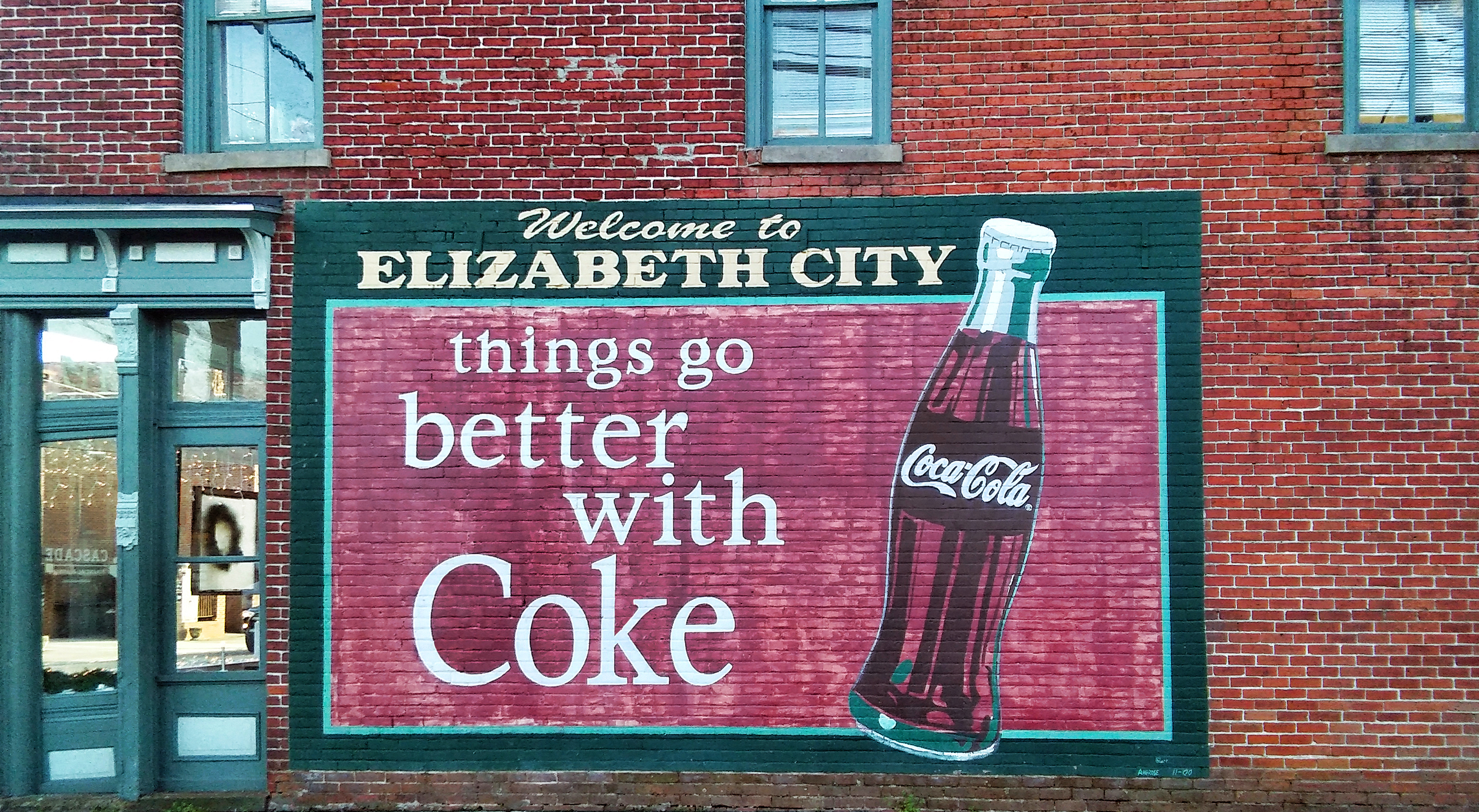 Elizabeth City Coke Mural