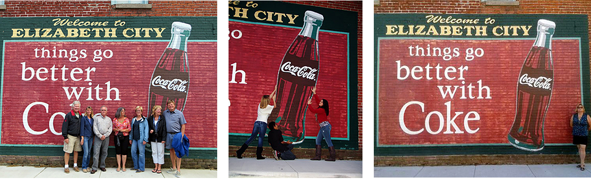 Coke Mural Fun in Elizabeth City 2