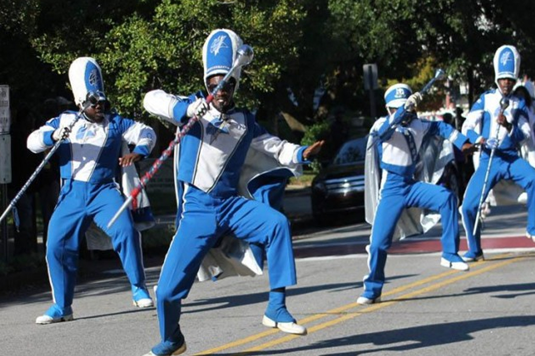 band performing during elizabeth city state university homecoming Parade