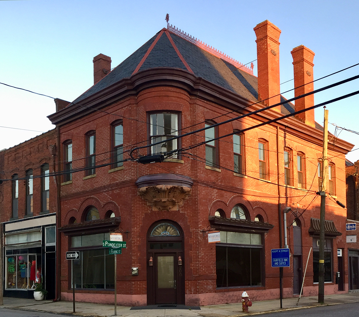 albemarle bank building in historic downtown elizabeth city