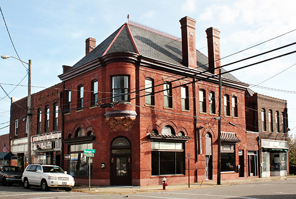 Historic Albemarle Bank building in downtown elizabeth city nc
