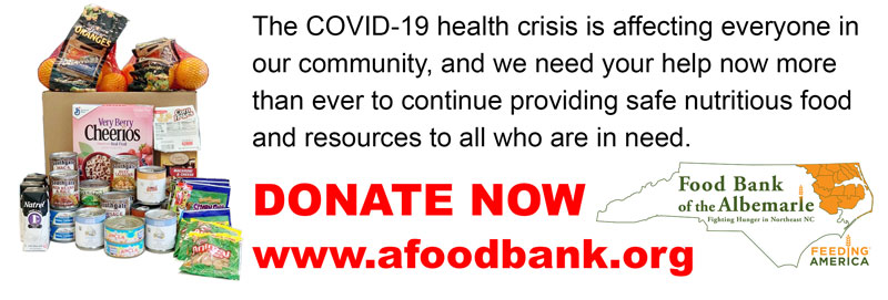 Donate now to the food bank of the albemarle.