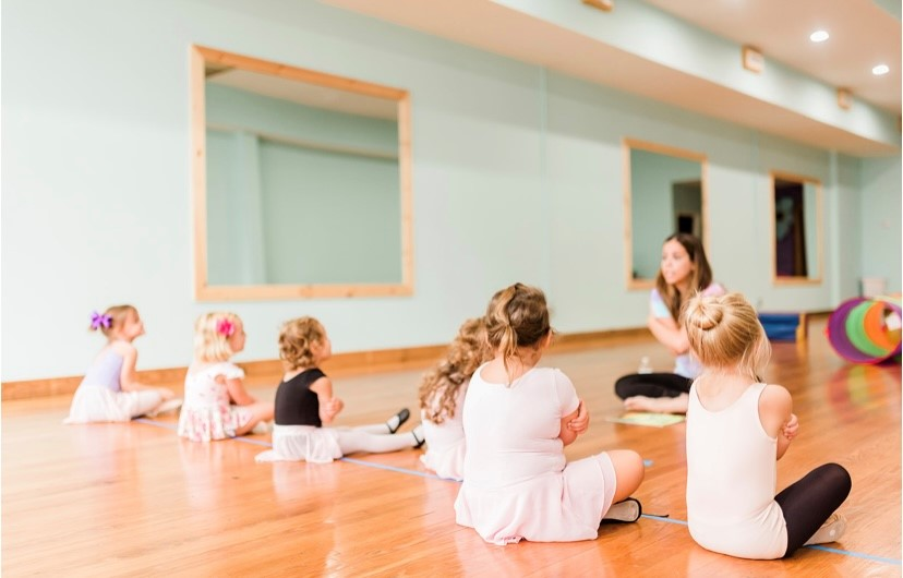students in ballerina outfits at kinderdance by zaribel in downtown elizabeth city nc