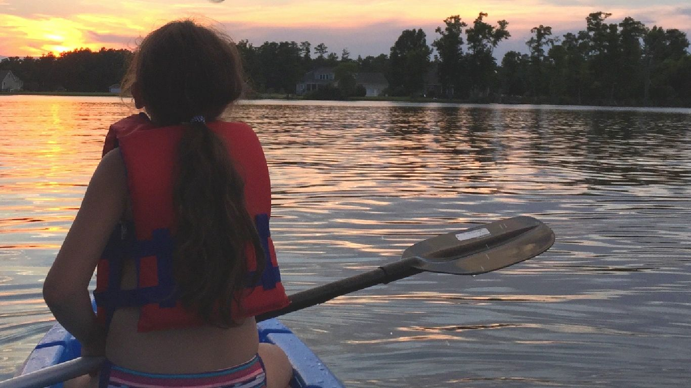 Native Girl Kayaking