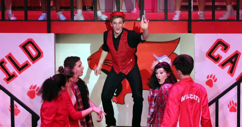 "Center Players performing ""High School Musical"" at Arts of the Albemarle's Maguire Theatre."