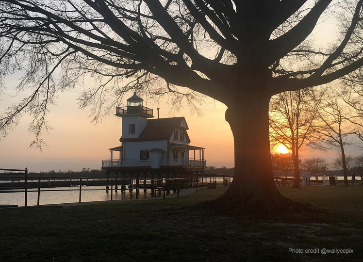 The Roanoke River Lighthouse in Edenton. Beautiful shot by Instagrammer @wallycepix