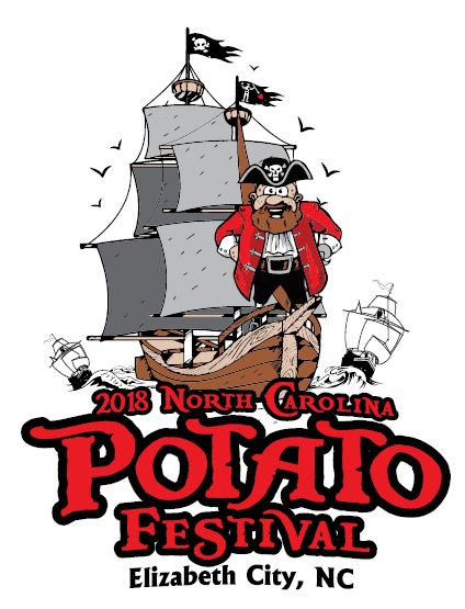 2018 north carolina potato festival pirate logo